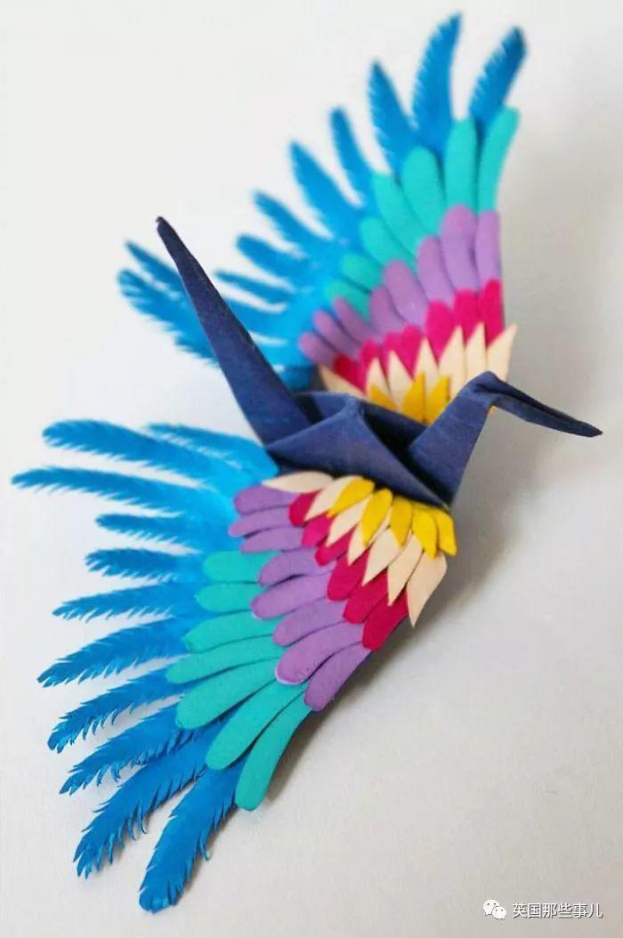 1000天,每天折一只不同的纸鹤,现在这哥们折出的纸鹤简直梦幻
