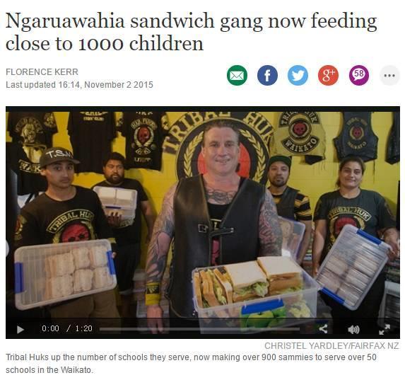 画风突转:新西兰黑帮放下屠刀,拿起菜刀!