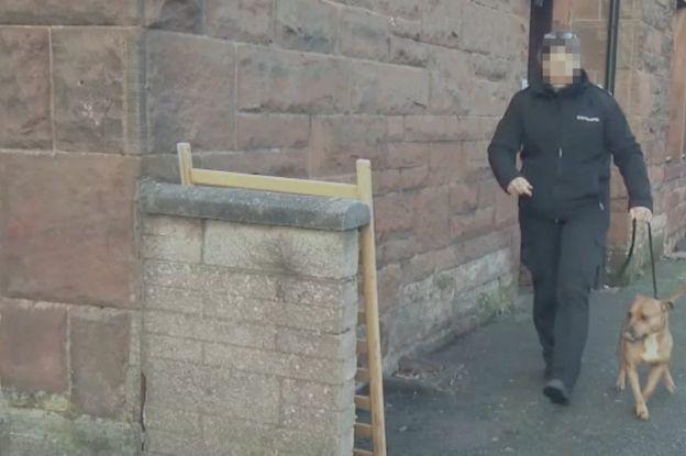 Police raid in Scotland