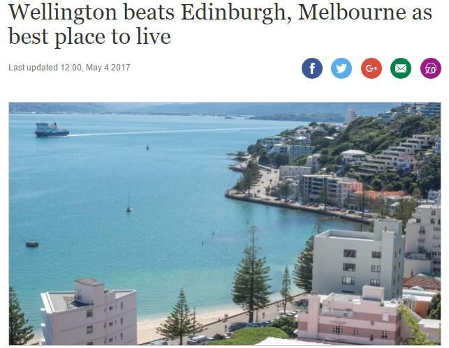 """疯了?""""风城""""惠灵顿跃居世界宜居城市排行榜全球第一!"""