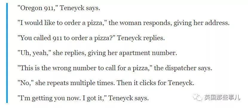 她打报警电话却要求订披萨…接线员秒懂后阻止了一场悲剧