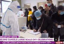因冠状病毒爆发,北京取消大型新年庆典活动。
