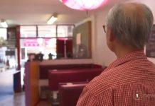 受冠状病毒影响,华人餐馆内空空如也。