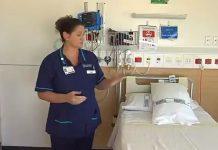 1 NEWS参观了怀卡托医院已建成的负气压室。