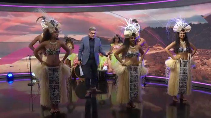 太平洋音乐节的波利尼西亚舞蹈。