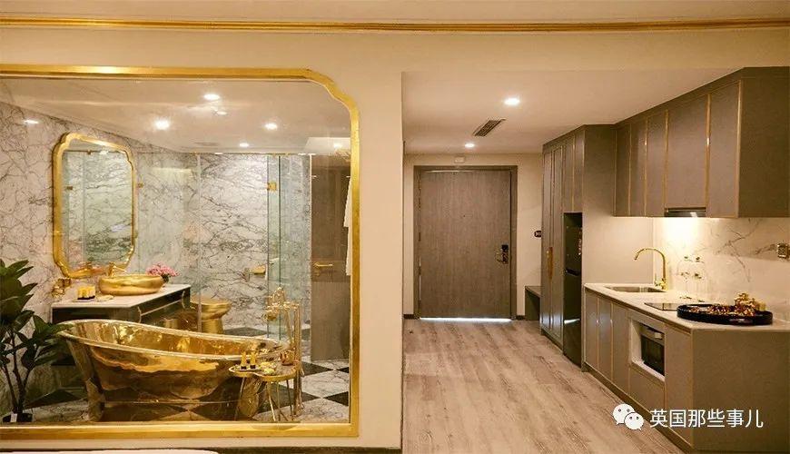越南超土豪黄金酒店!从里到外全镀金,马桶都是金灿灿的!