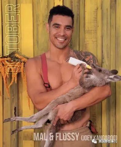 澳洲消防员2021年月历出炉,肌肉猛男配可爱动物又来啦!