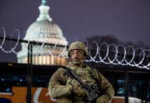组图:国民警卫队进驻美国会 进入战备状态